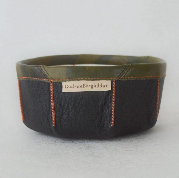 Guðrún Borghildur leðurskál leather bowl